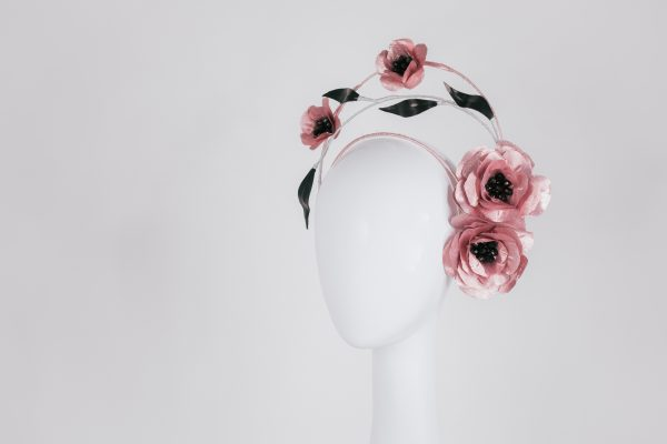 Pink Flower Millinery from Melbourne - Modern Headwear - Luxurious and exclusive