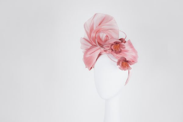 Pink hatpiece - stunning millinery from Melbourne