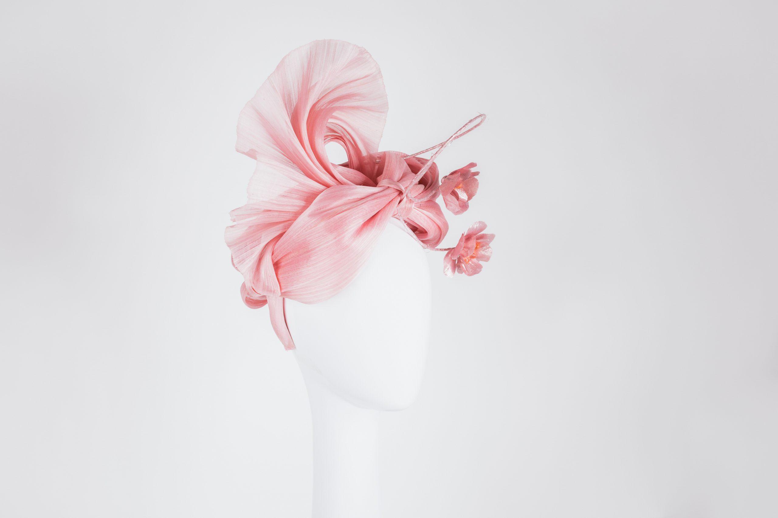 Millinery-Pink-SilkAbaca-Headpiece-7-003
