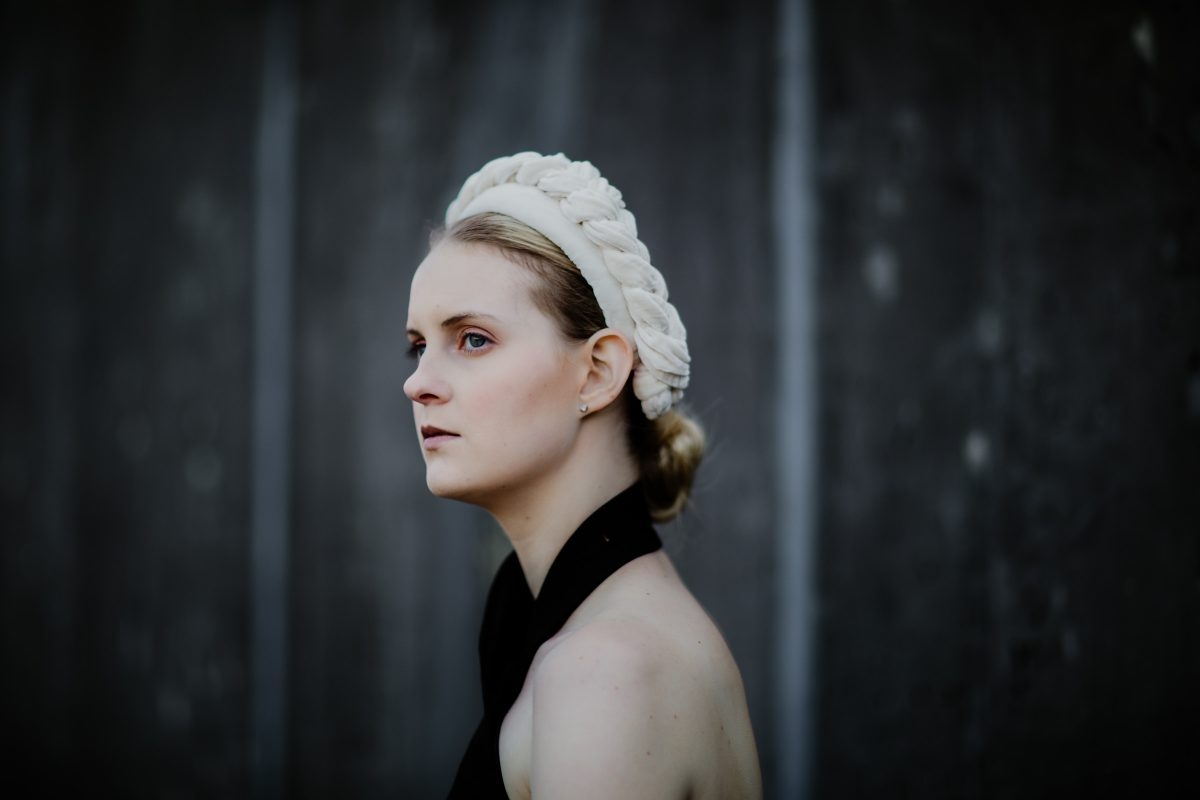 cream headband - millinery and headpieces handmade in Melbourne