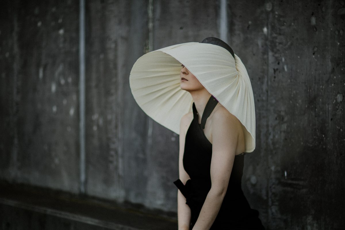 most elegant oversize headpiece for the races