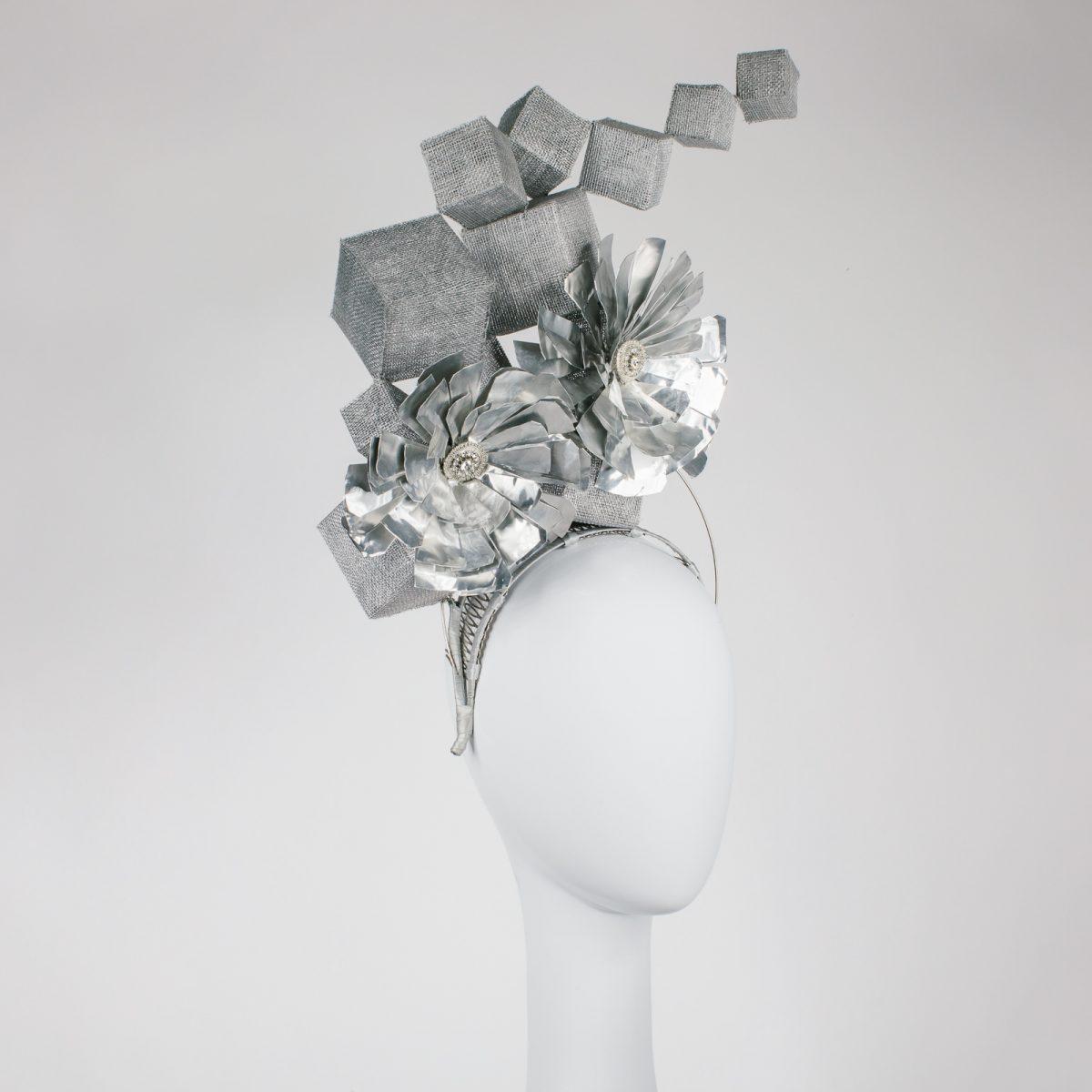 metal millinery hat - award piece - ftof millinery award