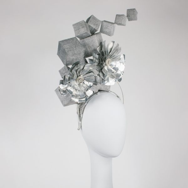metal millinery hat - award piece - ftof millinery award