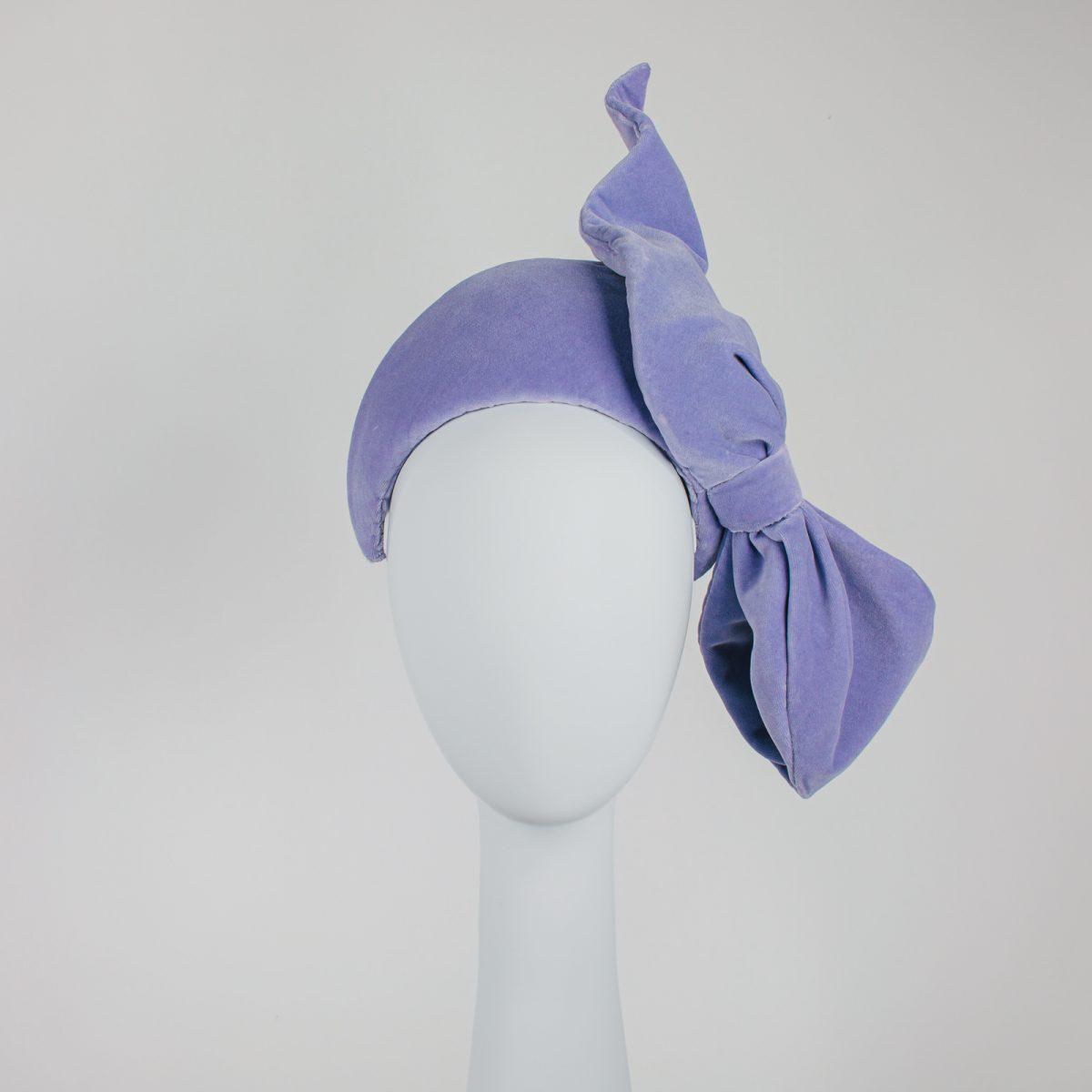 velvet crown with bow - Melbourne unique millinery