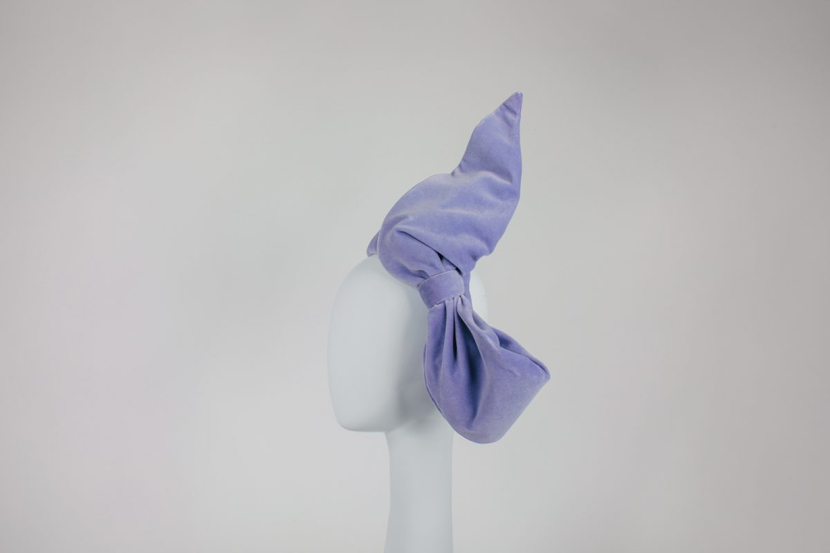 lavender bow - headpiece - Millinery for the melbourne races - Cauflield Cup Millinery