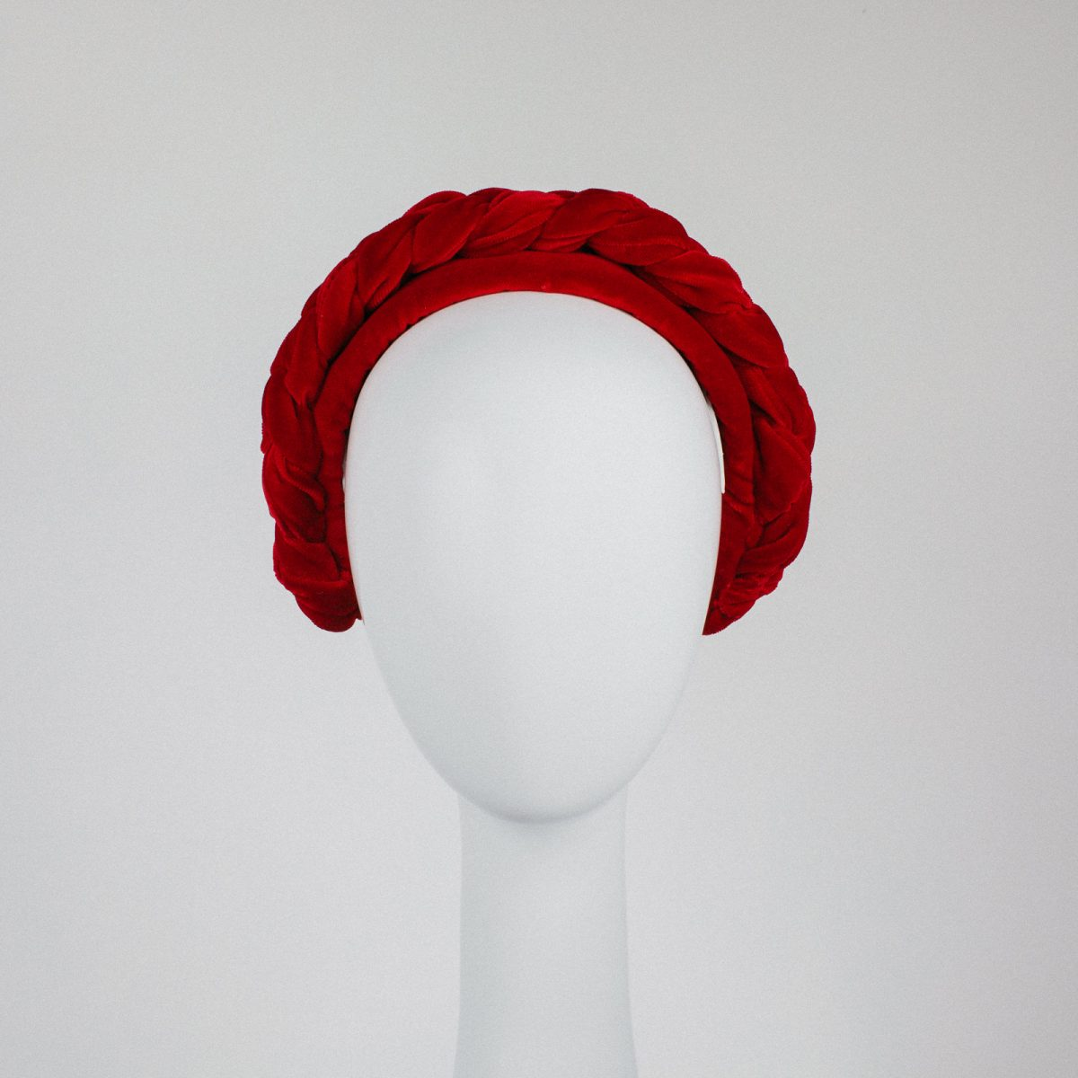 red velvet headband - unique designer headpiece - luxurious material