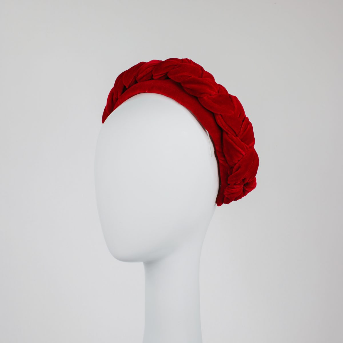 millinery from melbourne - racewear designs - red headband on angle