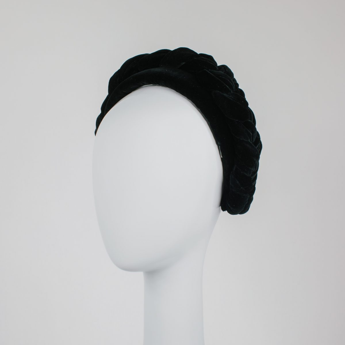 braided velvet headband - best millinery in melbourne - unique designs - handmade with luxurious materials
