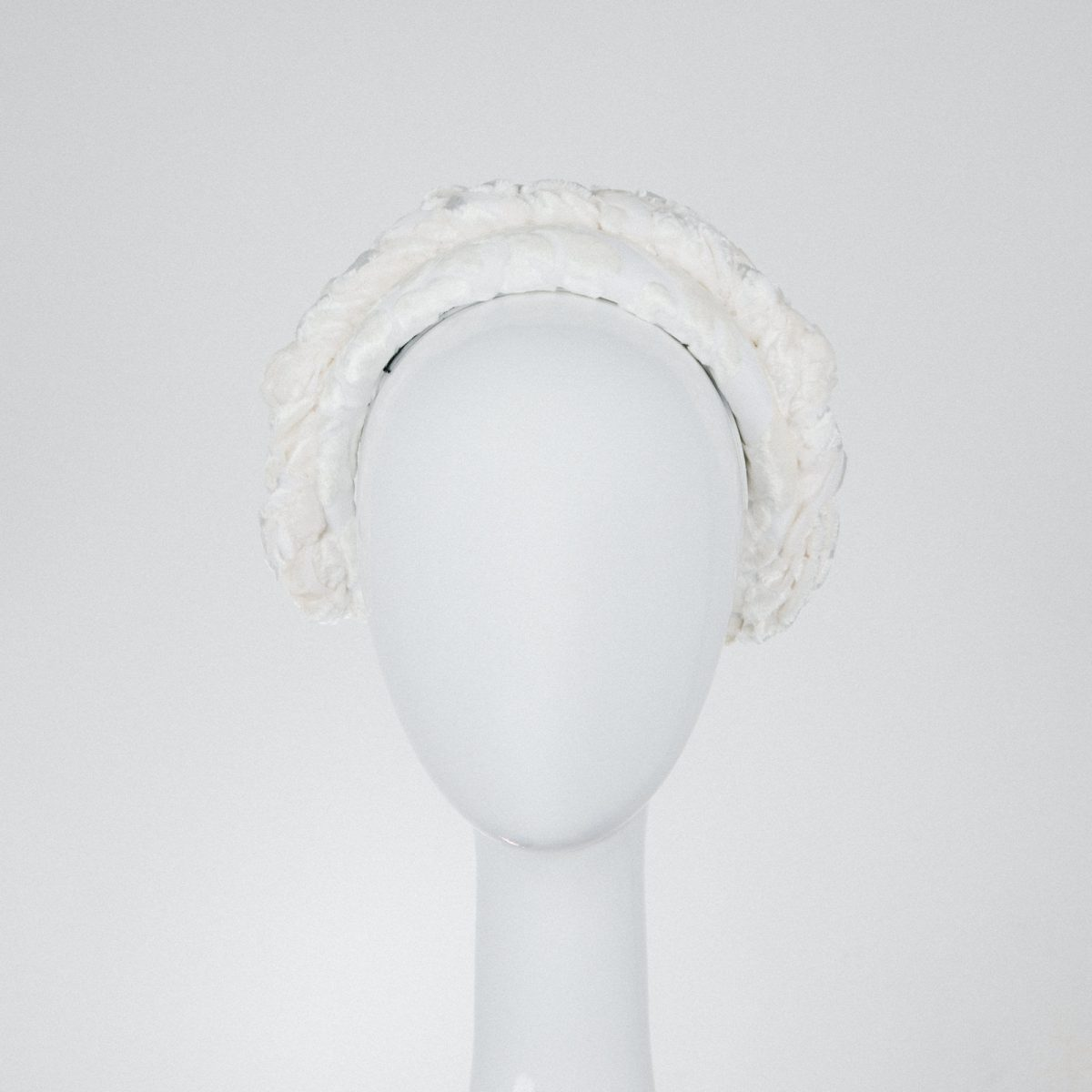 white velvet headband - luxury materials