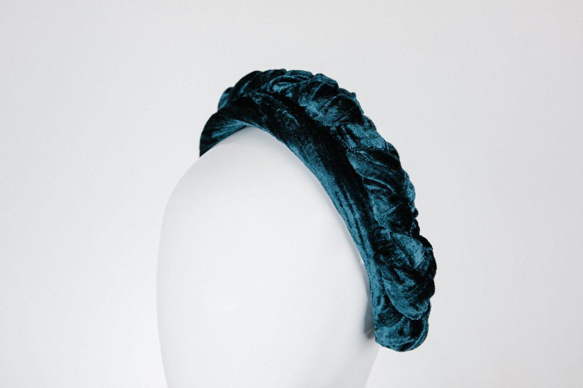 minimalistic millinery - stylish teal blue headband