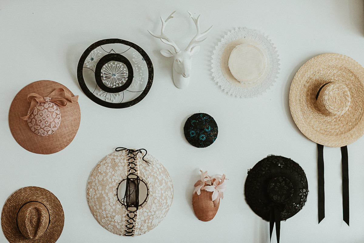millinery feature wall - millinery decoration ideas
