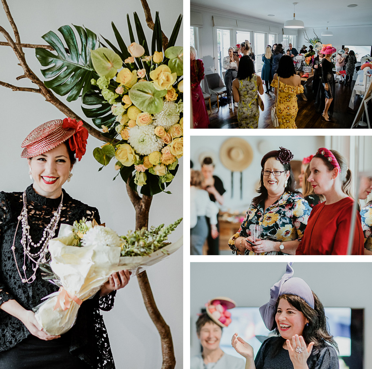 winners at millinery event - best dressed