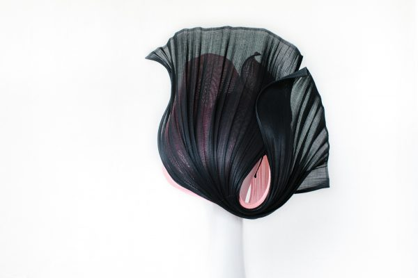 Jinsin Hat - Millionery Back view - Black and Pink