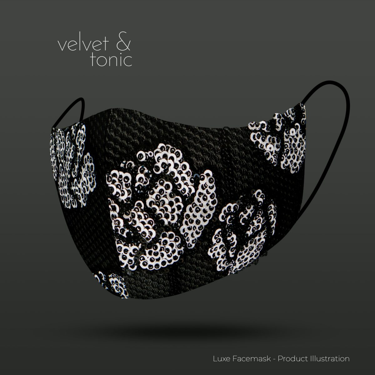 Sequin Designer Facemask - Most luxurious facemask