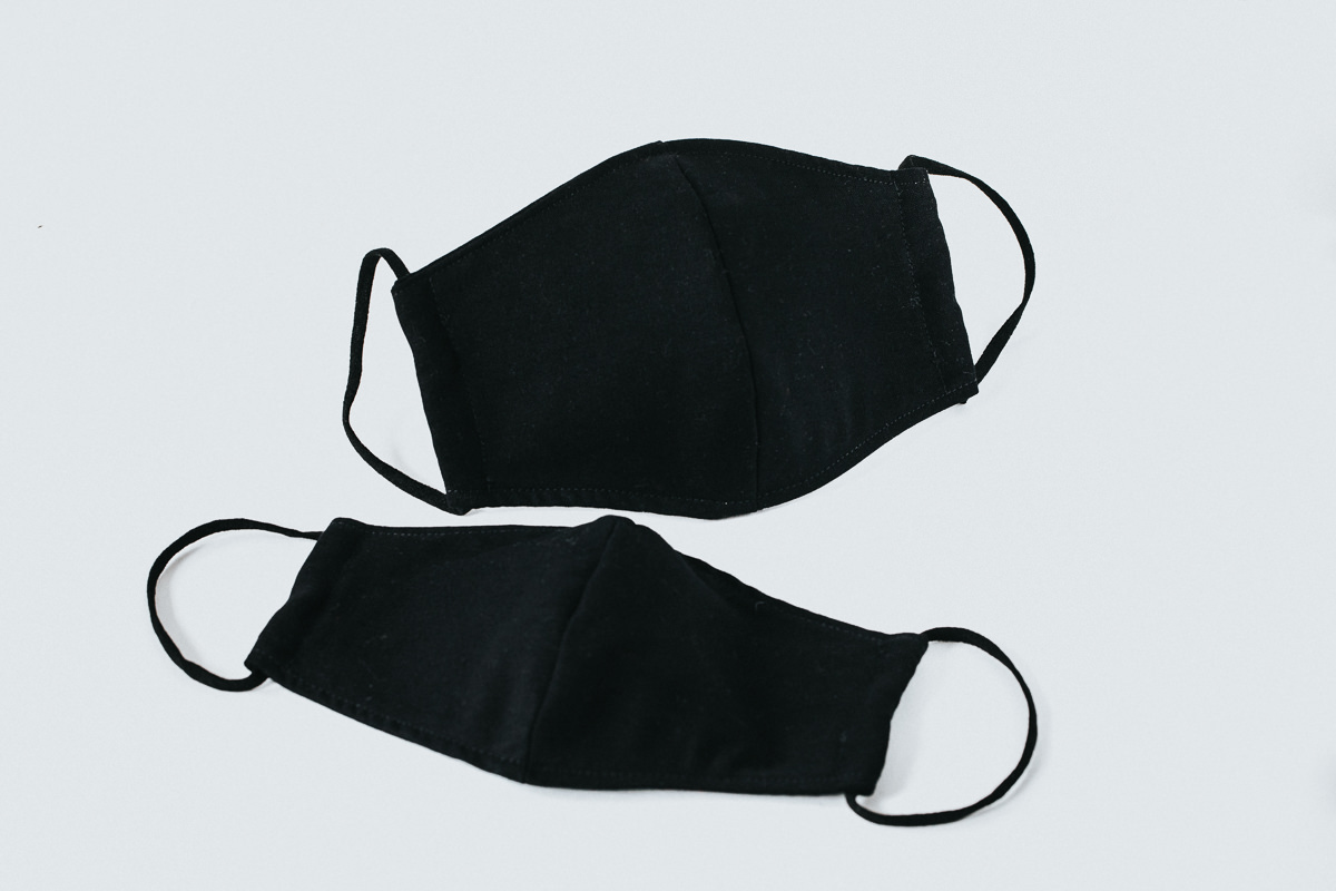 Melbourne black fabric facemask - available