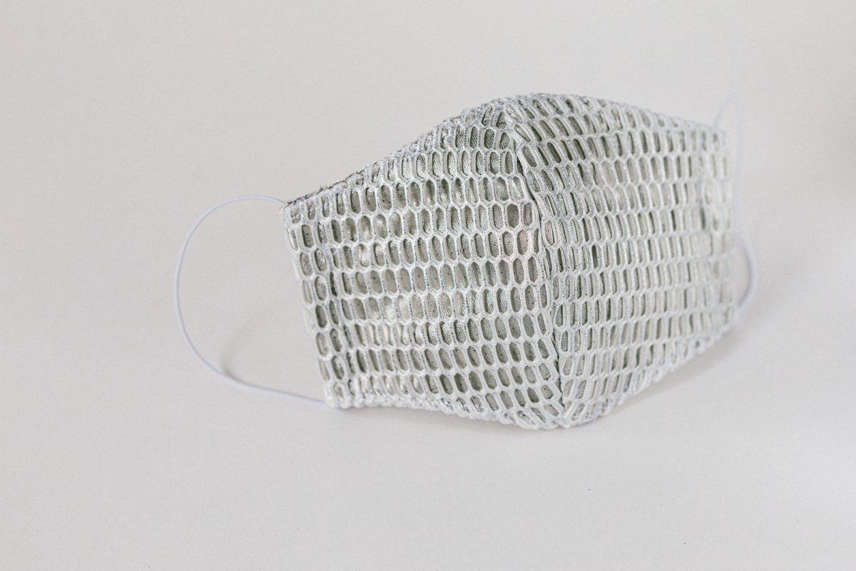 Luxury silver mesh Melbourne facemask