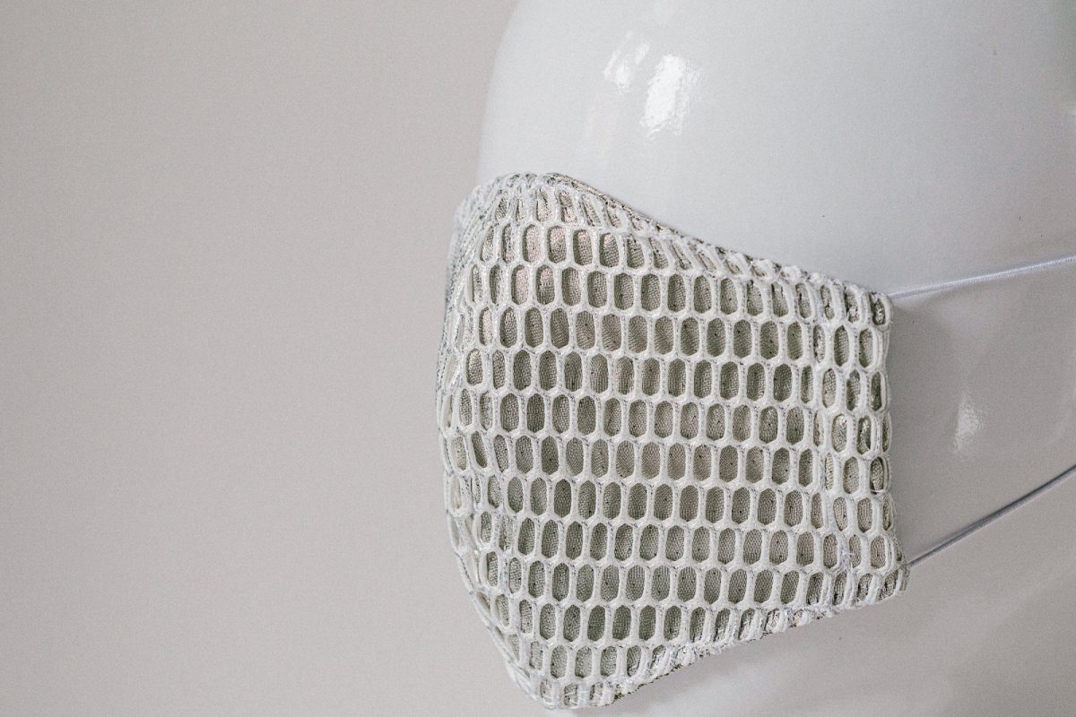 Stylish silver mesh facemask - unique facemasks for Melbourne
