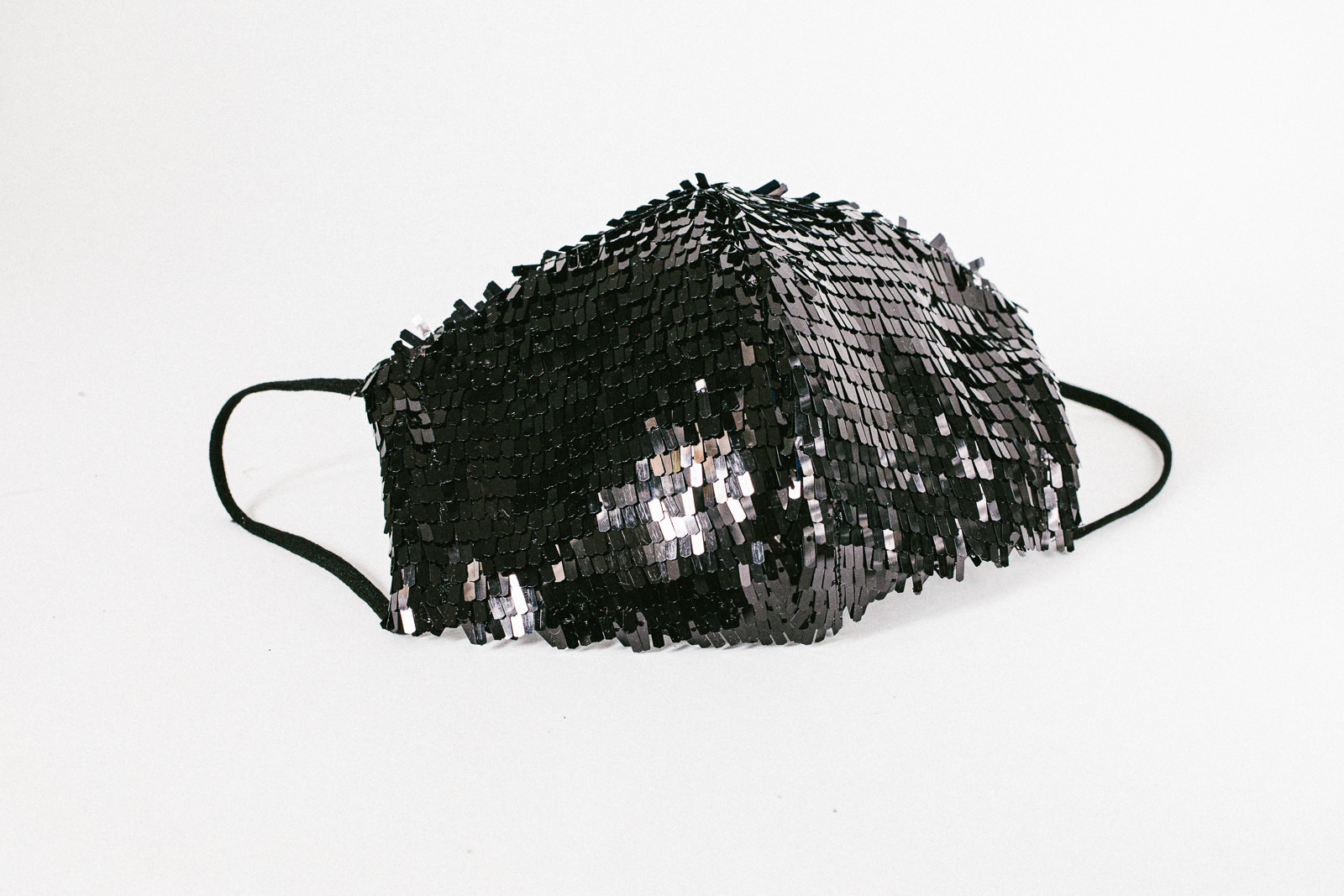 Melbourne facemask with sequin in black - unique facemasks