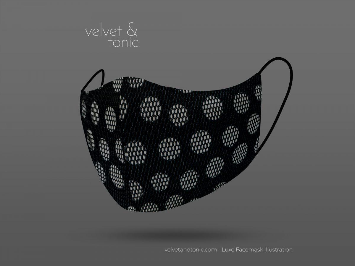 Spot Mesh Facemask - Luxe Facemask - Best designs