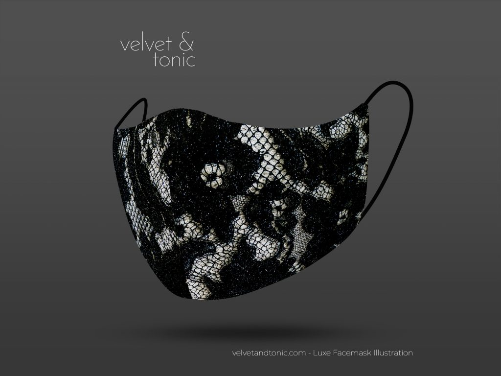 Black lace facemask - stylish facemasks