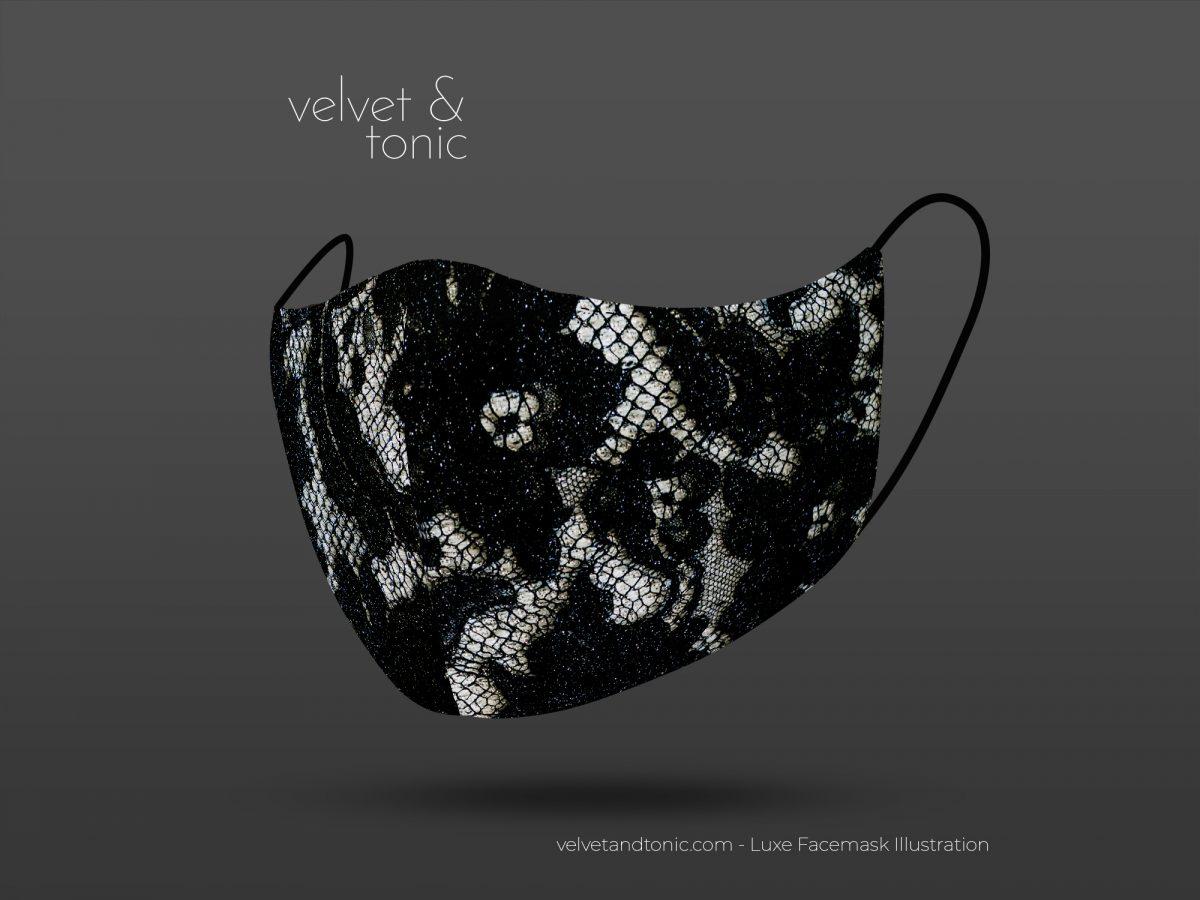 Black lace facemask - stylish facemasks