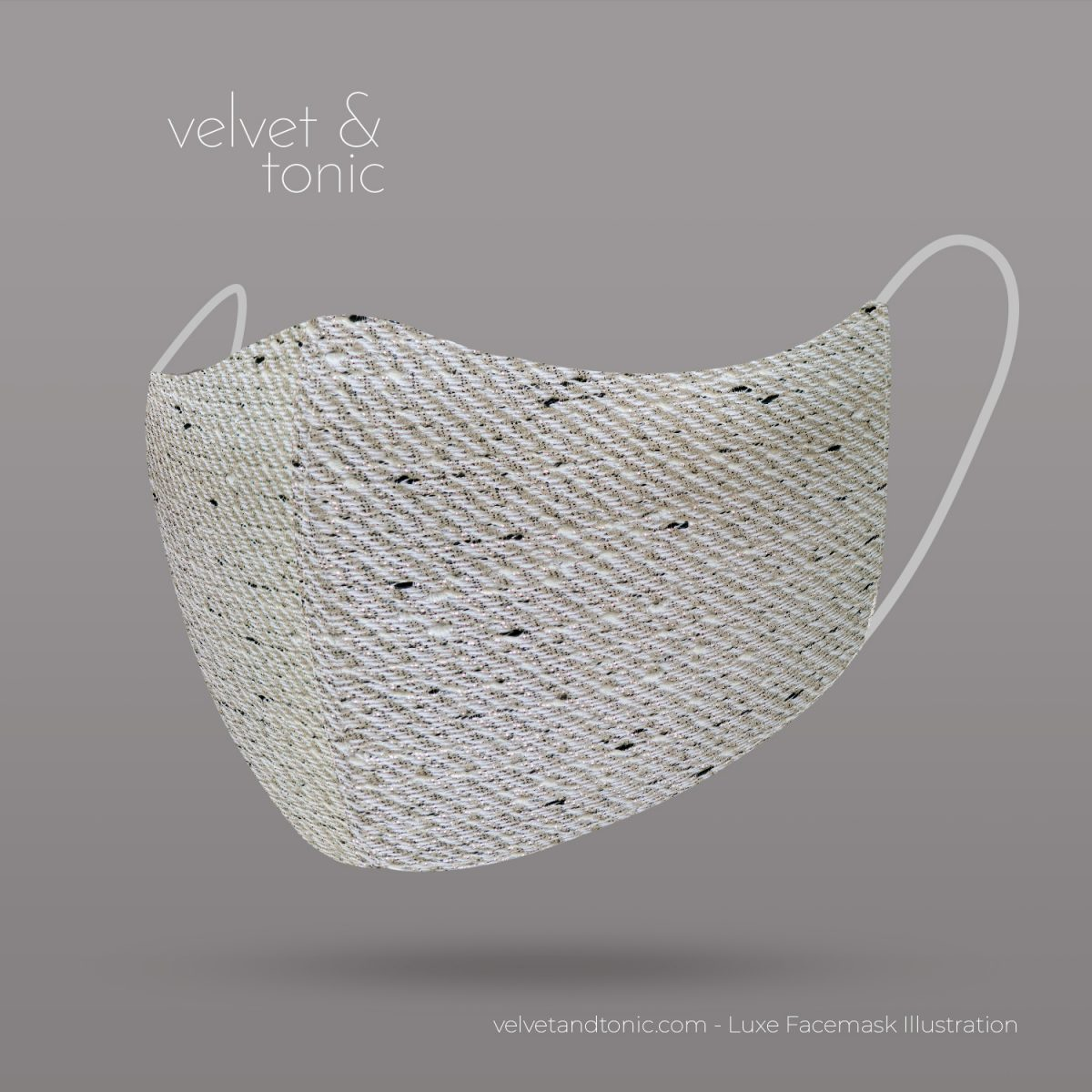 Silver woven facemask - luxury facemasks