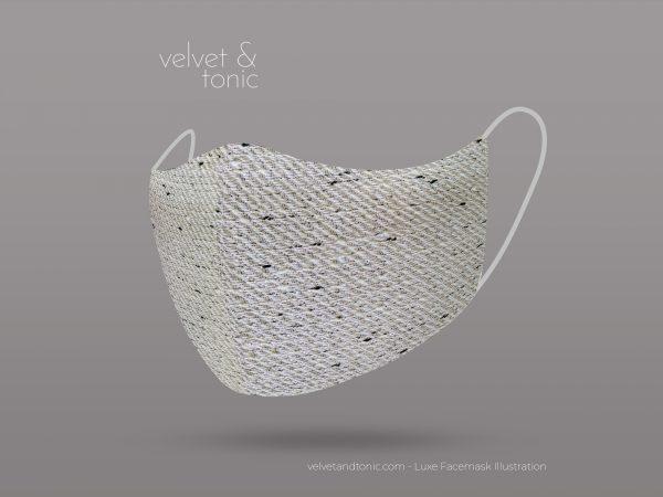 Silver woven facemask - luxury facemasks
