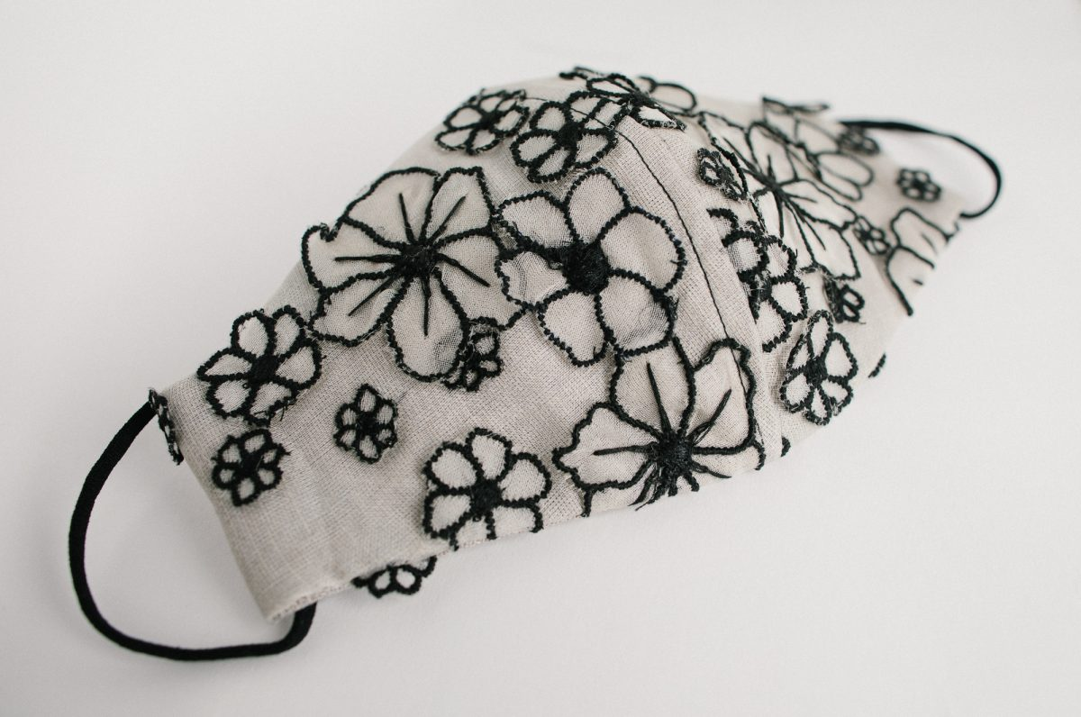 luxury black and white facemask - most lkuxurious facemasks worldwide